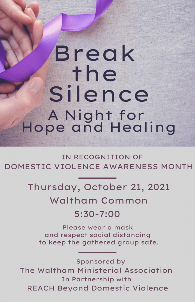 Break the Silence A Night for Hope and Healing Flyer